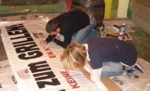 Banner malen