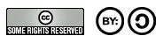 Typischer Hinweis auf Creative-Commons-Lizenzierung