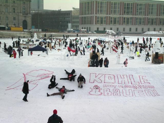 24.1.2010 - Kohle nur noch zum Schneemann-Bauen