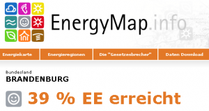 Screenshot EnergyMap.info Brandenburg