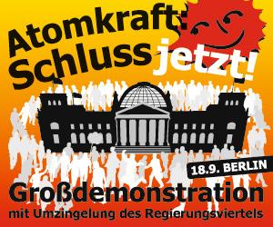 Anti-Atom-Demo am 18.9.2010 in Berlin