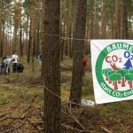 Plakat und Freiwillige Pflanzaktion Wannsee