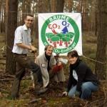 Plakat und Pflanzung Pflanzaktion Wannsee